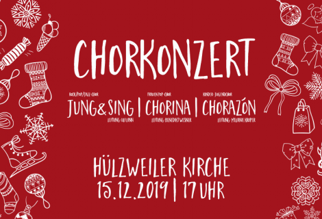 Konzert mit allen Chor-Werk-Chören am 3. Adventssonntag (15.12, 17 Uhr, Hülzweiler Kirche)